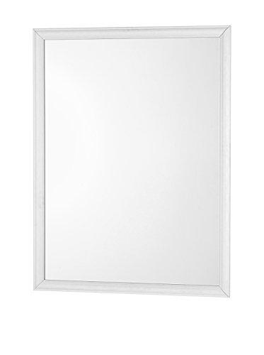 Feridras 332032 specchio con cornice, abs, bianco, 2x60x80 cm