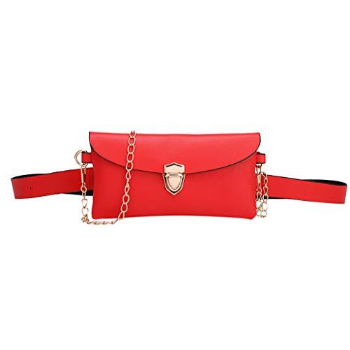 DAKERTA Damen Mädchen Gürteltasche Hüfttaschen Bauchtasche Umschlag Tasche mit Taillengürtel aus PU Leder Wasserdicht