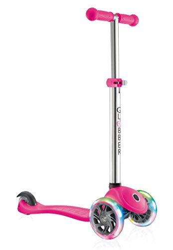 Globber Kids \'Primo Light Up Wheels Scooter, Rosa Fluo