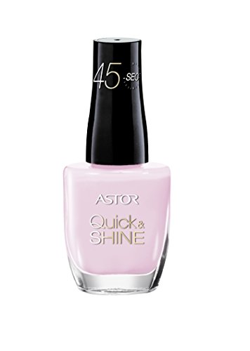 Astor Quick & Shine Nagellack, 206 Sunset Love, schnell trocknend, 1er Pack (1 x 8 ml) Astor Rose