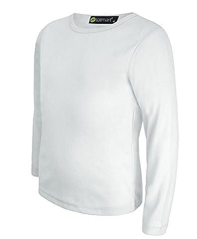Kinder Uni Einfach Top Langärmelig Mädchen Jungen T-Shirt Oberteile Crew