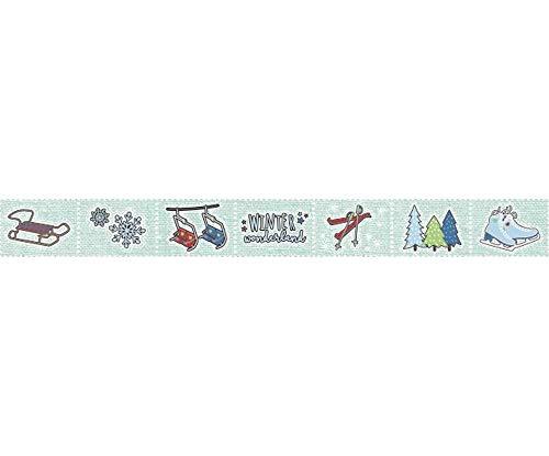 25.5 mm x 2,4 M Zeichen Schlittschuhe, Schlitten, Dekorative Streifen, künstlerbedarf, Heyda ()