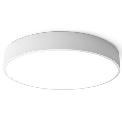 HUANGDA Moderne minimalistische Deckenleuchte runde Schlafzimmer Esszimmer leuchtet LED Korridor Ganglichter Acryl weiß Energiesparlampen (Größe : L)