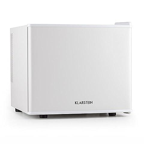 Klarstein Cachette Mini réfrigérateur encastrable (capacité de 17L, fonctionnement discret, température réglable, lumière intégrée, classe énergétique A+) - blanc