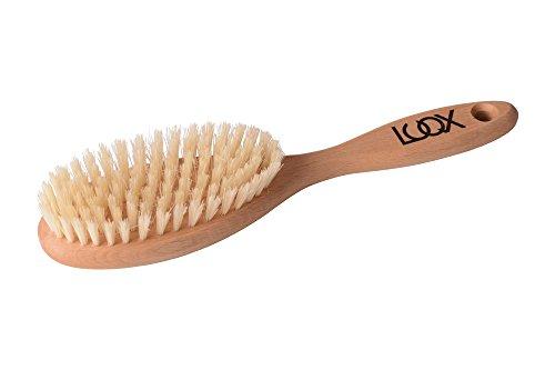 Holz-naturhaarbürste (LUQX Haarbürste Spezial für kräftiges Haar ( Massiert die Kopfhaut ✓ Reinigt die Haare | Auskämmbürste für dicke & schwere Haare | Naturhaarbürste mit extra kräftiger Naturborste | Langhaarbürste aus Holz für kurze, mittellange & lange Haare))