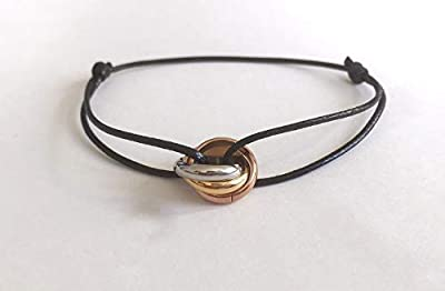 Bracelet 3 anneaux- bracelet cordon 3 anneaux. Bracelet Love