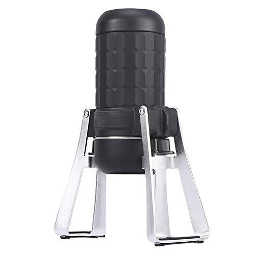 Mini Kapsel Kaffeemaschine, Hohe Kapazität tragbar Handdruck Draussen Moka Pot, 15Bar Druck...