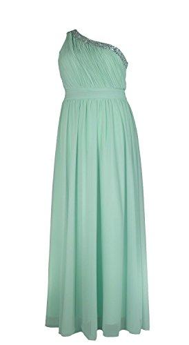 Samtlebe® Damen Abendkleid One Shoulder QS1504 Türkis (Frauen Römische Für Toga)