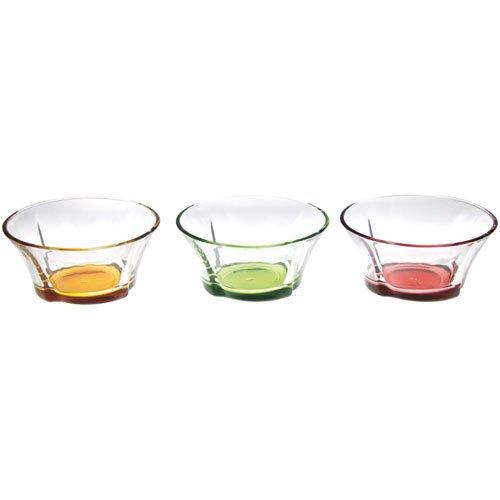 Novastyl 7069028 Coffret de 6 Coupelles de Fruit Assortiment Couleur Méli-Mélo Verre Multicolore 37 x 38 x 6 cm