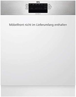 AEG FEB52600ZM Semi-incorporado 13cubiertos A++ lavavajilla - Lavavajillas (Semi-incorporado, Color blanco, Full size (60 cm), Acero inoxidable, Botones, Frío, Caliente)