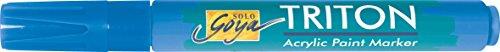 Kreul 17828 - Solo Goya Acrylic Paint Marker, mit formstabiler Keilspitze ca. 1 - 4 mm, primärblau (Marker Maler, Paint)