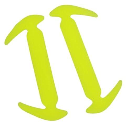 12pcs No Tie Shoelaces Waterproof Silicone Sneaker Shoe Laces (Yellow)