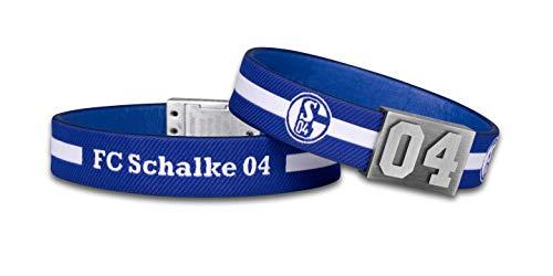 BRAYCE FC Schalke 04 Trikot am Handgelenk® I offizieller S04 Fanartikel I Armband für Damen und Herren I 9 Größen (17)