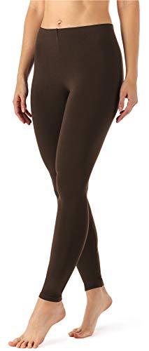 Merry Style Damen Lange Leggings MS10-143 (Braun, 38 (Herstellergröße: M))