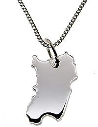 3e32dea25d7f SARDINIEN Kettenanhänger aus massiv 925 Silber mit 50 cm Halskette
