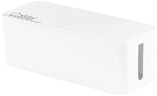 Callstel Cablebox: Kabelbox groß, 40,8 x 15,8 x 13,4 cm, weiß (Kabelkiste)