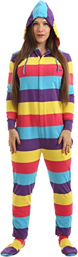 Funzee Onesie, Jumpsuit, einteiliger Overall, Pyjama, Strampler für Erwachsene mit Füssen, Ganzkörper Schlafanzug, Schlafoverall, körpergrößenabhängige Unisexgrößen in XS-XXL (Med Generous) (Pyjama Erwachsene Einteilig Für)