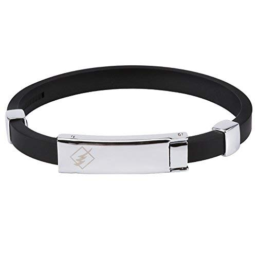 yutr Wasserdichtes Silikon wasserdichtes Armband mit negativem Ion, Handgelenkband für statische Elektrizität des menschlichen Körpers