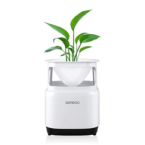 GEARGO Luftreiniger Air Purifier mit HEPA-Filter Aktivkohlefilter, 3-Stufen-Filterung für 99,97{932ce0e85d5d80c1ce606f0801e7d88f67bcb50e1520a922d275d863b774fd48} Filterleistung, mit Blumentopf, perfekt für Allergiker, Raucher, Eliminator PM2.5, Bakterien, Pollen