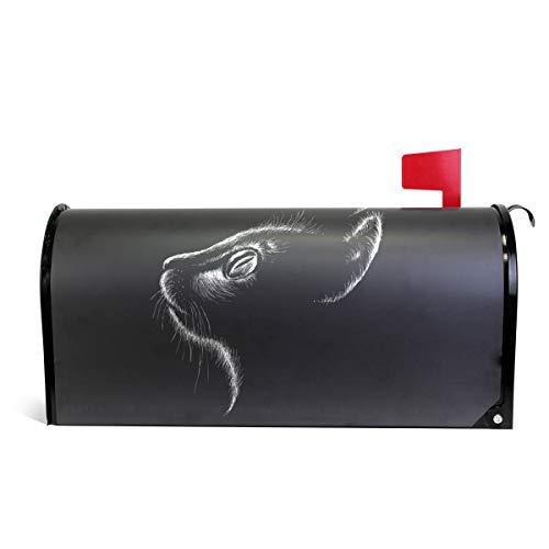 senya magnetisch Größe Postfach Cover Tattoo schwarz Katzen Stil, Oversized 20.7x18 inch Multi (Cowboys Tattoos Dallas)