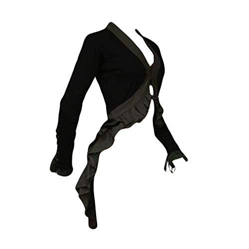 Yying Steampunk Barock Mantel Damen - Frauen Mode Holloween Party Cosplay Kostüm Outwear Schwanzmantel mit Spitze