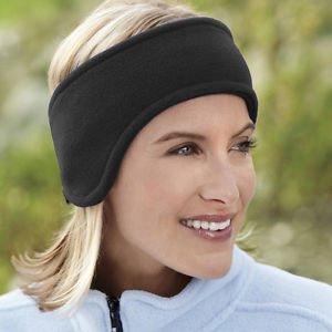 MG Universal Ear Muffs Winter Ear Warmers Earwarmer Mens Womens Polar Fleece Head Band Black Polar-fleece Ear Warmer