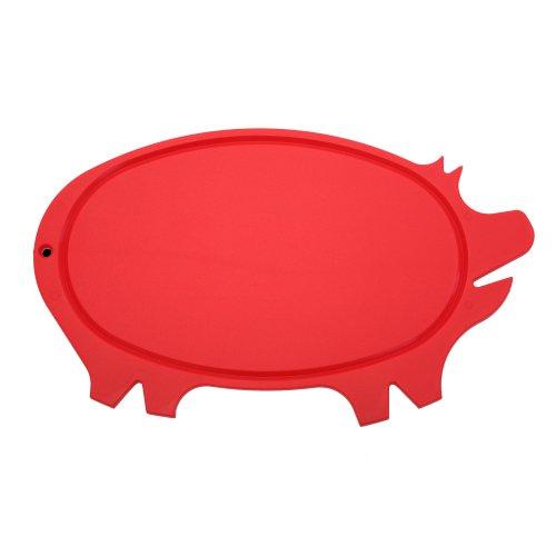 Pig Shaped Cutting Board (Linden Sweden Daloplast Pig Shaped Cutting Board, Red by Linden Sweden)