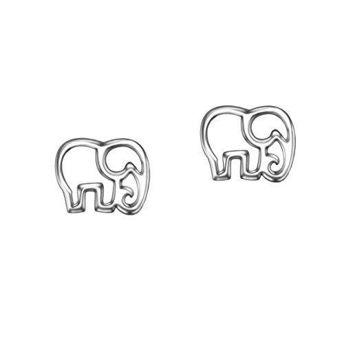 URBAN SHe° Freundschaft Lucky Elefant Sterling Silber Ohrstecker Cut Out Baby Elefant