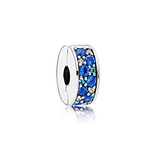 Pandora Charm Blauer Pavé-Glanz