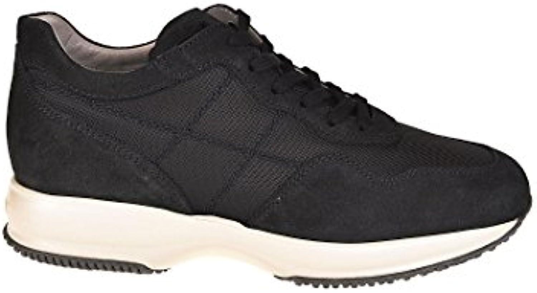 Hogan Herren HXM00N0AI4067A3735 Blau Leder Sneakers
