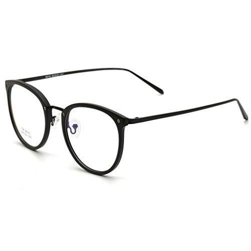 QHGstore Occhiali di moda telaio TR90 delle donne delle diottrie occhiali computer Uomini d'oro rotonda telaio NO.2