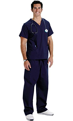 Navy Medical Scrubs (NCD Medical/Prestige Medical  50505 premium scrubs-XL-navy)