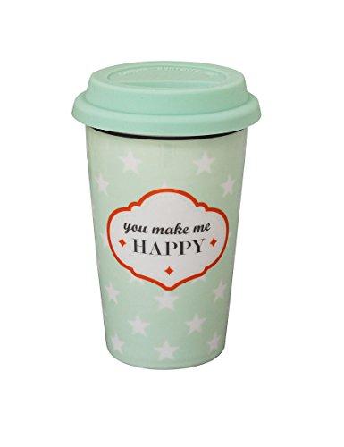 Travel mug yOU mAKE mE de la marque krasilnikoff hAPPY