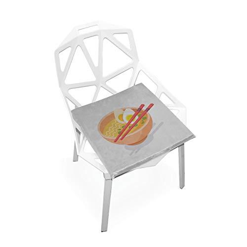 Enhusk Köstliche Nudeln Lebensmittel Benutzerdefinierte Weiche rutschfeste Platz Memory Foam Stuhlkissen Kissen Sitz Für Home Küche Esszimmer Büro Schreibtisch Möbel Innen 16x16 Zoll (Camping-lebensmittel-heizung)