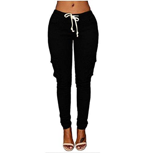 Bluestercool Femmes Pantalons Extensibles Pantalons à Crayons Taille Haute Slim Élastique Pantalon avec Poches
