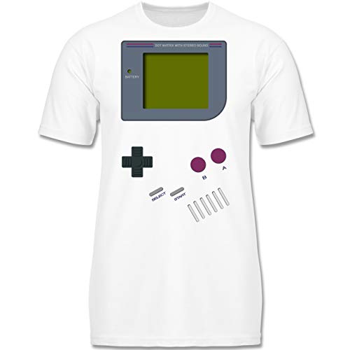 Up to Date Kind - Gameboy - 128 (7-8 Jahre) - Weiß - F130K - Jungen Kinder T-Shirt