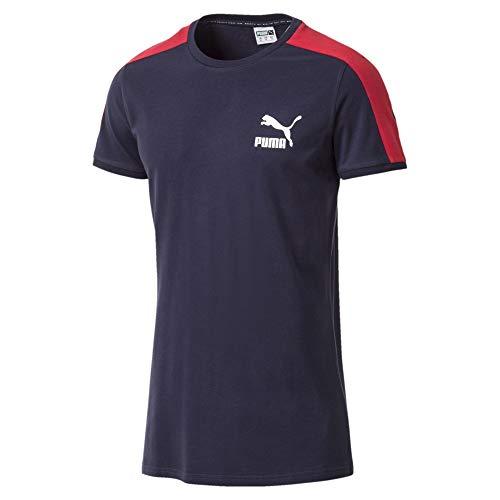 Puma Classics Herren Slim T7 T-Shirt Peacoat M (Gerippte Puma Jersey)