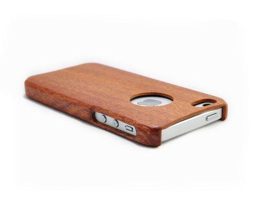 SunSmart Einzigartigen, handgefertigten Naturholzhartholzhülle für das iPhone 5 5S (Kirsch Meer Welle) sapele one