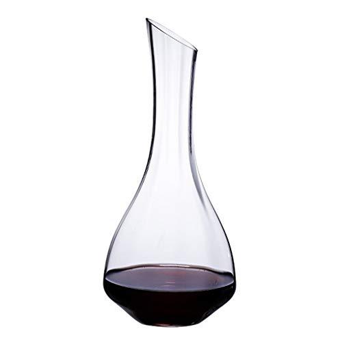 1.4l classic decanter per vino, aeratore per vino cristallino, migliora il gusto del vino più morbido-grande centrotavola regalo meraviglioso-elegante ed efficace -100% senza piombo cristallo premium