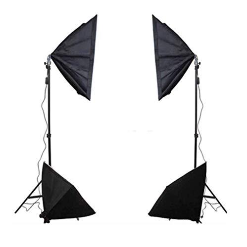 YGB Kit d'éclairage continu Studio Photo Ensemble de Fond de Parapluie - 4 parapluies + (Noir Blanc) + Pied de Lampe + softbox 50 * 70cm