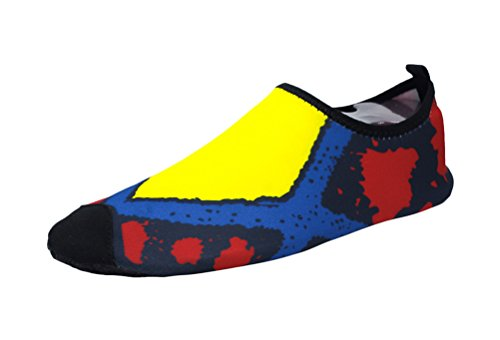 fq-real-couples-novelty-yoga-fitness-shoes-beach-barefoot-slip-on-shoes65-7-uk-yellow