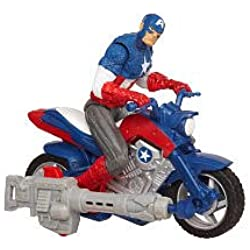 MARVEL LOS VENGADORES Furyfire Assault Moto Capitan America