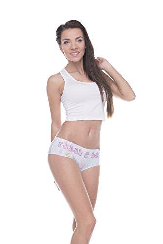 Funny Panties Company© Stampa 3D Mutandine Stampare/Motivo/Design Taglia Unica Unisex Primavera Estate 2017 EMOJI PEACE 39419