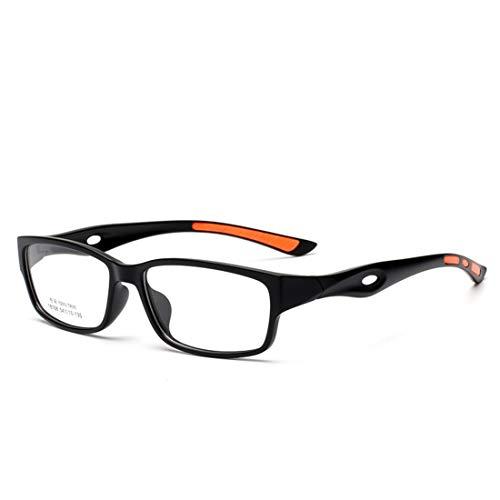 Zebuakuade Sport Brillengestell rutschfeste Silikon Brillengestell Brillen für Frauen Männer (Color : Orange)