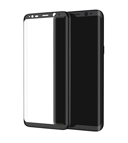 GIANTARMOUR GIANT ARMOUR Premium BLACK Coloured Tempered Glass for Samsung Galaxy S8 BLACK full Coverage including Curved Edges,Correct Sensor and Camera Cut outs