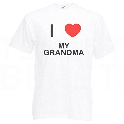 I Love My Grandma - T-Shirt Weiß