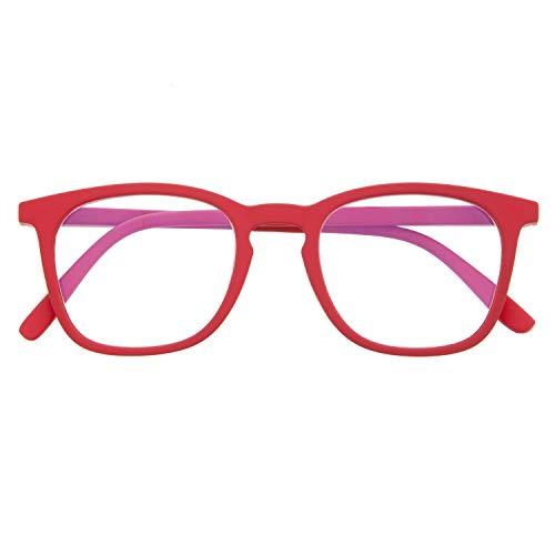 Blaulichtfilter Brille für Damen und Herren. Blaufilter Brille mit stärke oder ohne sehstärke für Gaming oder Pc. Gummi-Touch-Tempel und Blendschutzgläser. Ferrari +2.0 - TATE
