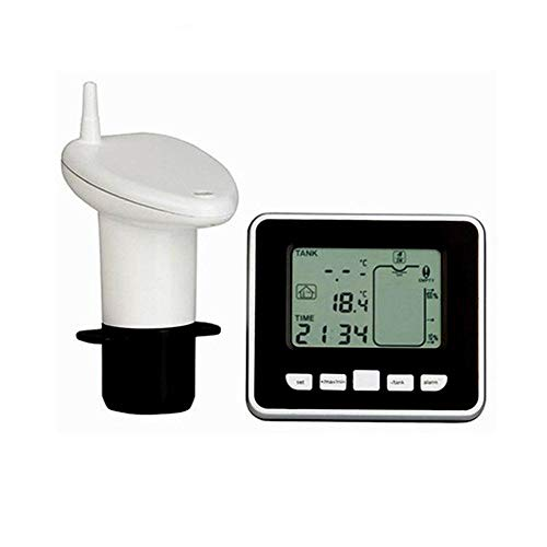 lā Vestmon Jauge de Niveau à ultrasons Profondeur de Liquide de réservoir d'eau ultrasonique avec Affichage de la température,Jauge pour citerne dŽEau de Pluie, cuve, récupérateur