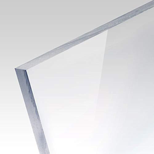 PLEXIGLAS® Platte transparent Zuschnitt für Bilderrahmen, Vitrinen, Treppen und Box, Stärke: 3mm, Maße: 84x60 cm (A1)