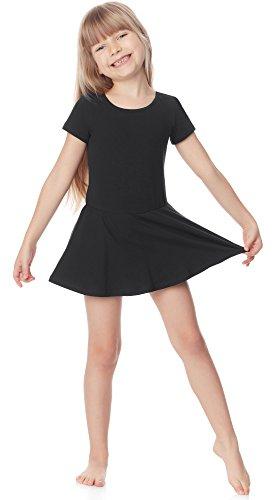 Merry Style Body Vestitino Ballerina Bambina e Ragazza MS10-136(Nero, 122)